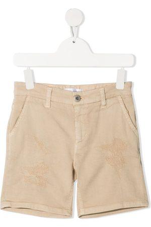 DONDUP KIDS Boys Shorts - Distressed-finish denim shorts - Neutrals