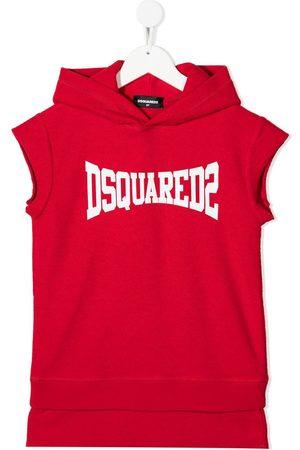 Dsquared2 Girls Printed Dresses - Logo-print sweatshirt dress