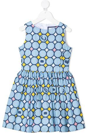 Simonetta Girls Casual Dresses - Geometric-print empire-line sleeveless dress