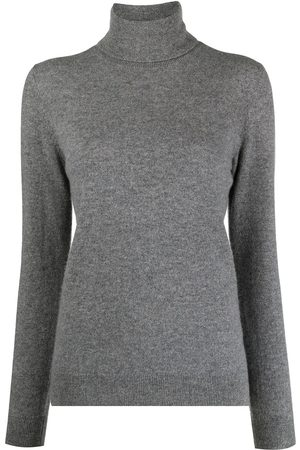 12 STOREEZ Roll-neck cashmere jumper - Grey