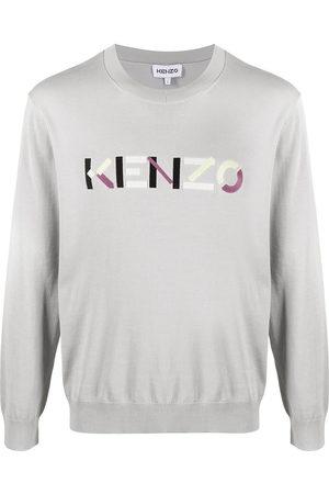 Kenzo Men Sweatshirts - Logo-embroidered jumper - Grey