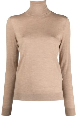 12 STOREEZ Women Turtlenecks - Roll-neck merino jumper - Neutrals