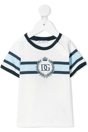 Dolce & Gabbana T-shirts - Stripe-detail logo T-shirt