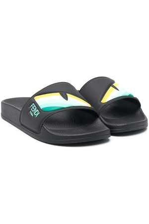 Fendi Boys Sandals - Eye slide sandals