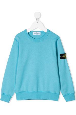 Stone Island Logo patch long-sleeve sweatshirt