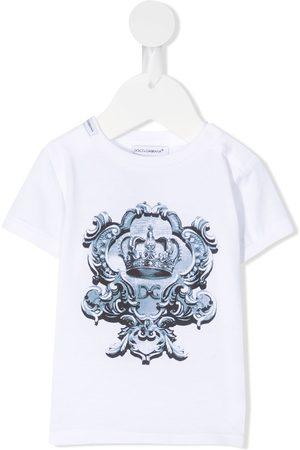 Dolce & Gabbana T-shirts - Crown logo print T-shirt