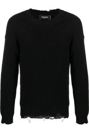 Dsquared2 Logo-print chunky-knit jumper