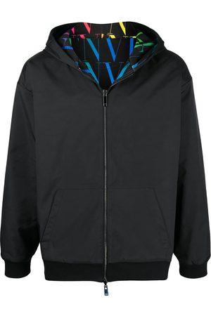 VALENTINO Men Hoodies - VLTN TIMES reversible zipped hoodie