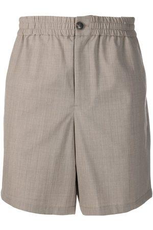 Ami Elasticated-waist Bermuda shorts - Neutrals