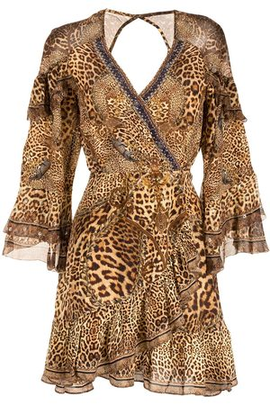 Camilla Lady Lodge silk wrap dress