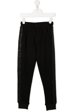 Karl Lagerfeld Logo-tape cotton track pants