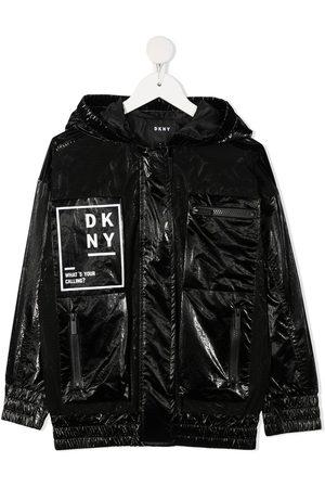 DKNY High-shine hooded jacket