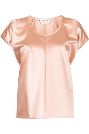 Marni Women Blouses - Satin-effect puff-sleeve blouse