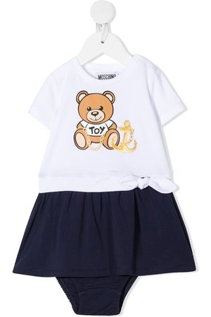 Moschino Baby Casual Dresses - Teddy bear-print cotton dress