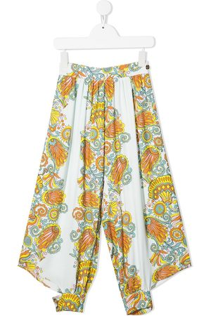 Lanvin Girls Pants - Graphic-print culottes