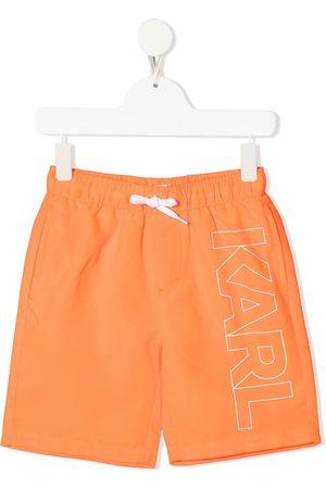 Karl Lagerfeld Logo-print swim shorts