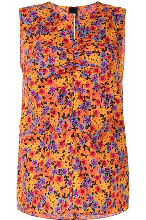 Marni Pop Garden-print sleeveless blouse - Multicolour