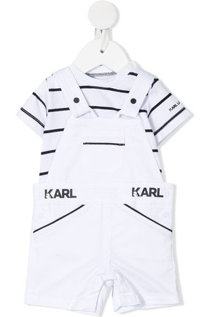 Karl Lagerfeld Striped t-shirt and dungaree set