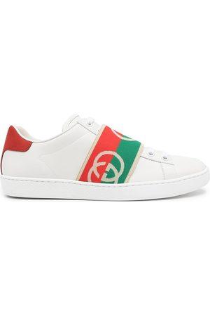 Gucci Women Sneakers - Ace elastic Web sneakers