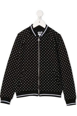 Karl Lagerfeld Polka-dot bomber jacket