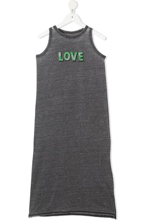 Zadig & Voltaire Girls Casual Dresses - Love-print sleeveless dress - Grey