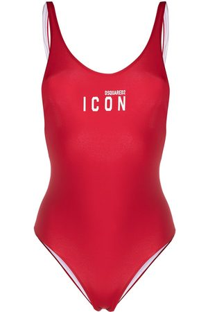 Dsquared2 Women Swimsuits - Logo-print open-back swimsuit