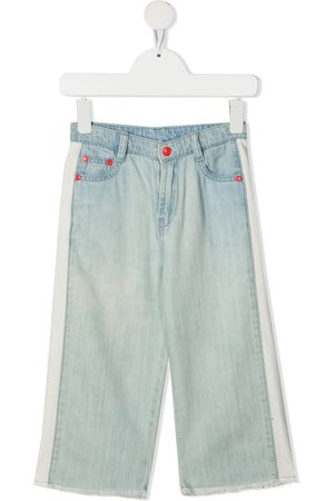 The Marc Jacobs Straight-leg stripe detailed jeans