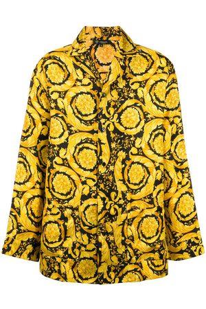 VERSACE Men Pajamas - Barocco-print pyjama shirt
