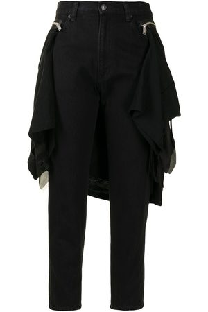 UNDERCOVER Detachable panel cropped trousers