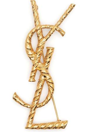 Saint Laurent YSL logo brooch