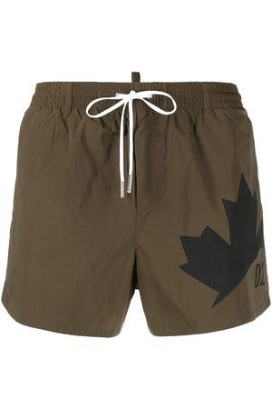 Dsquared2 Maple leaf-print swim shorts