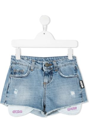 GCDS Girls Shorts - Mini hot denim pants