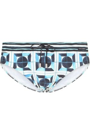 Dolce & Gabbana Men Swim Shorts - Geometric-print swimming briefs