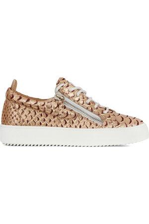 Giuseppe Zanotti Crocodile effect sneakers