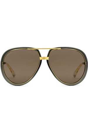 Gucci Men Aviators - Oversized aviator-frame sunglasses - Grey