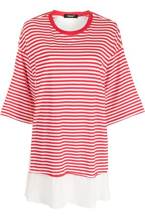 UNDERCOVER Extra-long striped cotton top