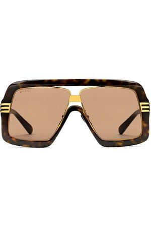 Gucci Men Square - Square-frame tortoiseshell sunglasses