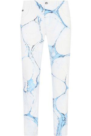 Dolce & Gabbana Cracked-print jeans