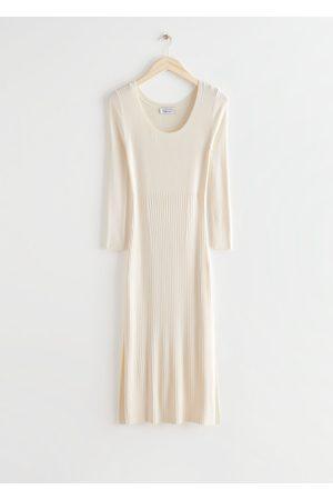 & OTHER STORIES Women Midi Dresses - Ribbed Side Slit Midi Dress