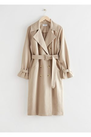 & OTHER STORIES Women Trench Coats - Relaxed Double Breasted Trench Coat