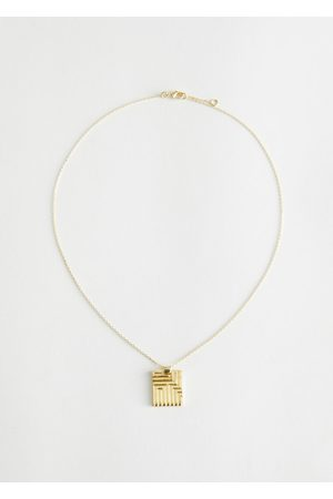 & OTHER STORIES Women Necklaces - Square Pendant Chain Necklace