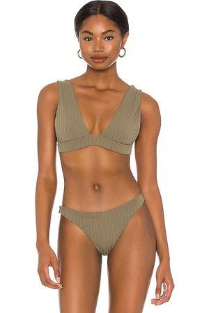 Mikoh Pila Bikini Top in Army.