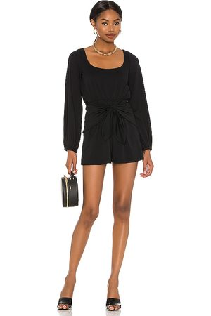 Susana Monaco Scoop Neck Tie Front Romper in .