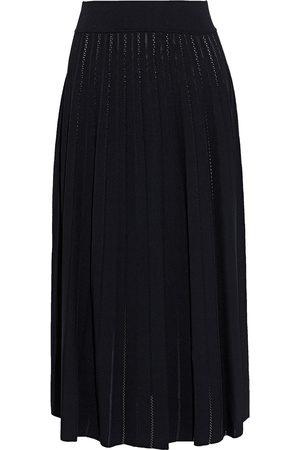 CASASOLA Women Midi Skirts - Woman Otonella Pleated Pointelle-knit Midi Skirt Size 38
