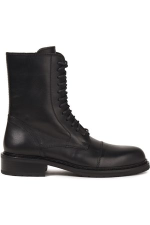 ANN DEMEULEMEESTER Woman Leather Combat Boots Size 36