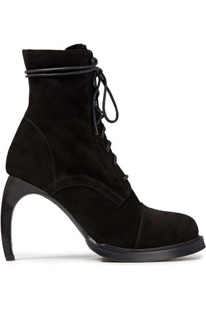 ANN DEMEULEMEESTER Woman Lace-up Suede Ankle Boots Size 35