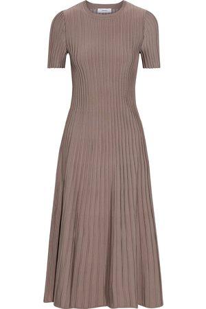 CASASOLA Women Knitted Dresses - Woman Pautilla Ribbed-knit Midi Dress Taupe Size 38