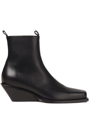 ANN DEMEULEMEESTER Woman Leather Wedge Ankle Boots Size 35