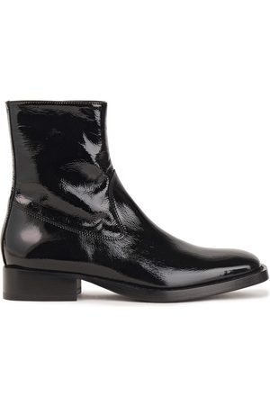 ANN DEMEULEMEESTER Woman Crinkled Patent-leather Ankle Boots Size 35