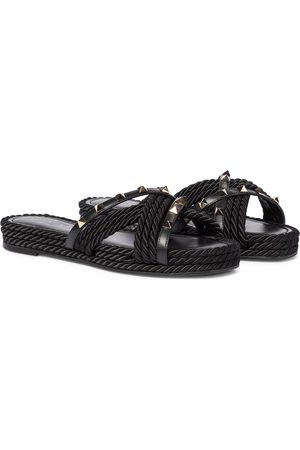 VALENTINO GARAVANI Women Espadrilles - Rockstud Torchon leather espadrille sandals